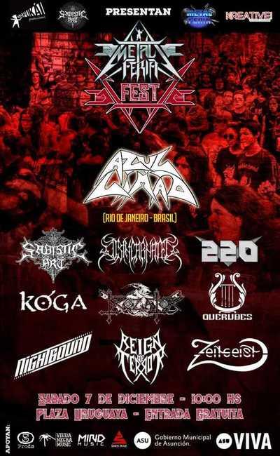 Anuncian quinta edición de la Metal Feria Fest