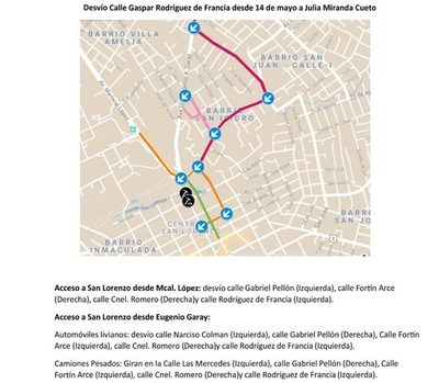 Obras de alcantarillado proseguirá sobre calle Rodríguez de Francia