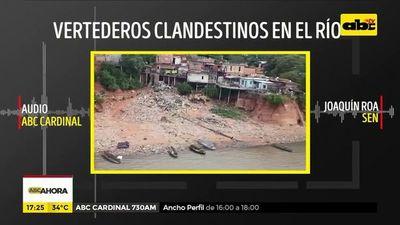 """Ribera del río paraguay es un """"verdadero vertedero"""", según ministro de la SEN"""