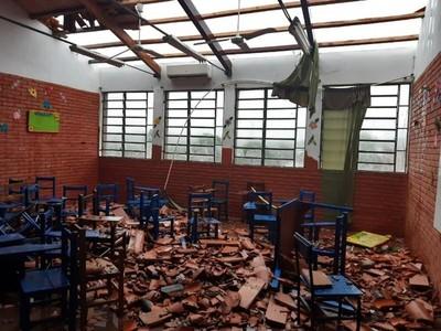 Asistirán a escuelas afectadas por temporal