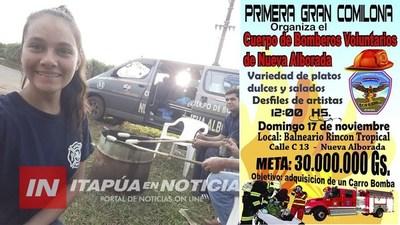 NVA. ALBORADA: PRIMERA COMILONA PARA COMPRA DE CARRO HIDRANTE PARA BOMBEROS