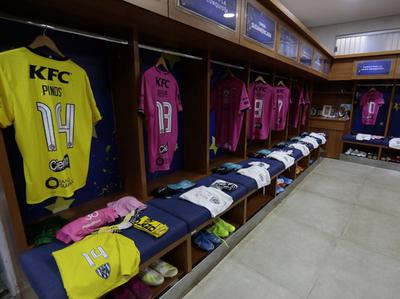 El vestuario de Independiente del Valle en La Nueva Olla