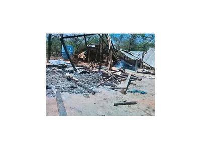 Desconocidos queman estancia que está en litigio en el Chaco