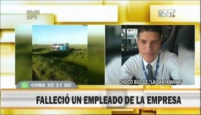 Reportan víctima fatal en accidente de bus paraguayo