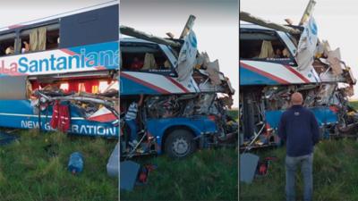 Ómnibus paraguayo sufre grave accidente en Argentina