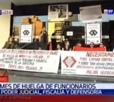 Funcionarios del Poder Judicial, Fiscalía y Defensoría van a huelga