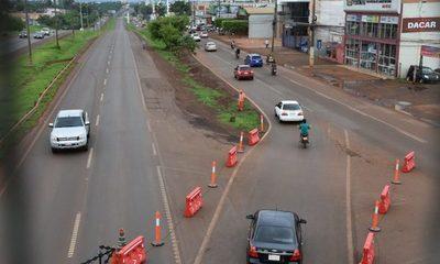 Arrancó el operativo de desvío de tránsito en el Km 7 de CDE