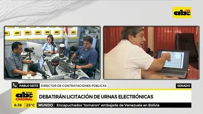 Debatirán licitación de urnas electrónicas