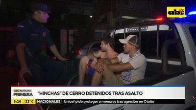"""""""Hinchas"""" de Cerro detenidos tras asalto"""