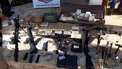 Incautan armas y municiones de una vivienda en Caacupé