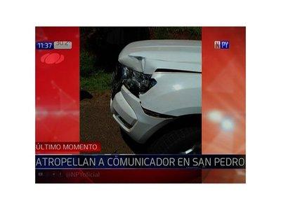 Vehículo de comitiva presidencial atropella y mata a comunicador