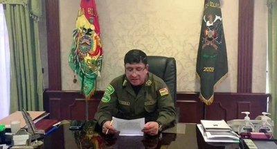 Renunció el comandante de la policía boliviana