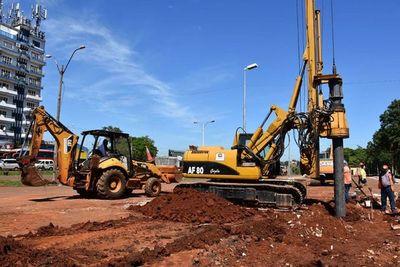 Inician excavaciones para multiviaducto en Ciudad del Este