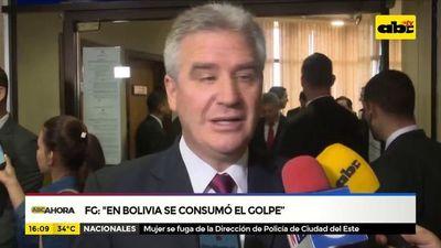 Senadores sobre renuncia de Evo en Bolivia
