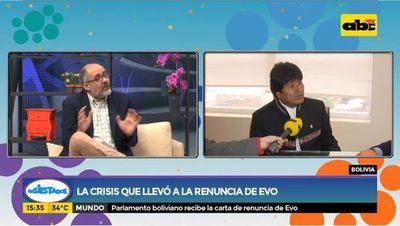 La crisis que llevó a la renuncia de Evo