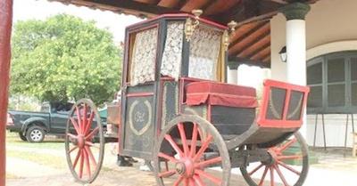 Carruaje de Don Carlos A. López ya en Paraguay
