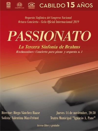 La OSIC se despide de su temporada 2019 con la 3era de Brahms