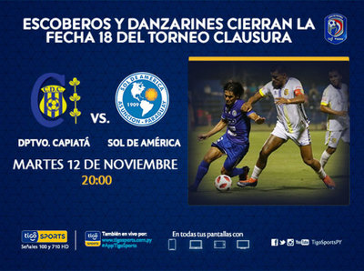 Deportivo Capiatá y Sol de América cierran la fecha 18