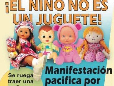 Piden llevar muñecas a manifestación contra abusos en niños y niñas