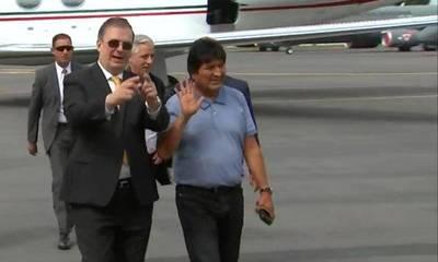 Evo llegó a México y aseguró que el presidente de ese país le salvó la vida