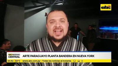 Arte paraguayo planta bandera en Nueva York