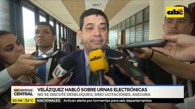 Velázquez hablo sobre urnas electrónicas