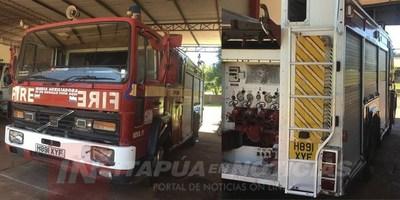 BOMBEROS DE TRP REPARAN SU PRIMER CARRO HIDRANTE
