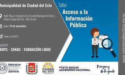 Preparan taller sobre Acceso a la Información Pública