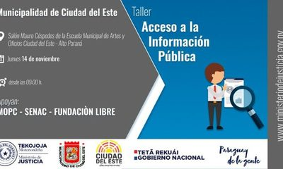 Invitan a un taller sobre Acceso a la Información Pública