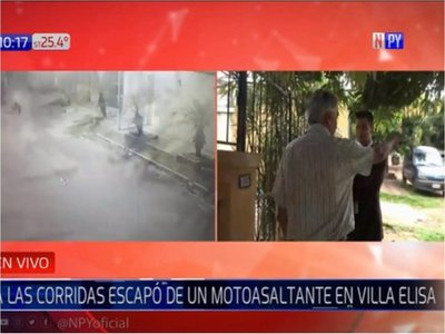 Hombre de 65 años escapó de motochorros