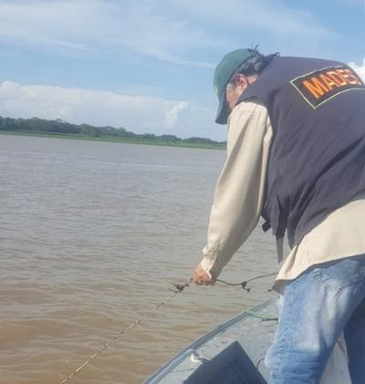 Decomisan importante cantidad de espineles en el Río Paraguay