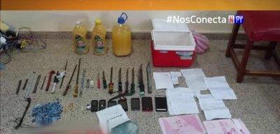 Requisan puñales, celulares y droga en cárcel de Encarnación