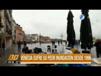 Venecia sufre su peor inundación