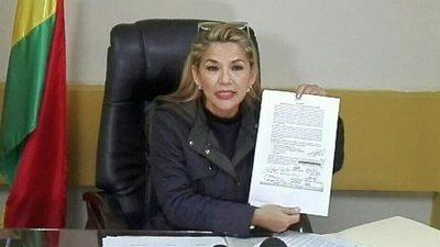 La presidenta interina de Bolivia convocará a elecciones incluso sin aval parlamentario