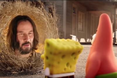 ¡Sorpresa! Keanu Reeves también forma parte de la nueva película de Bob Esponja