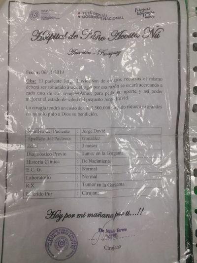 Piden dinero con certificado médico falso