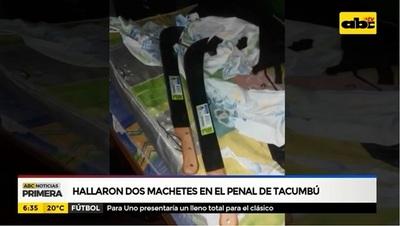 Aparecen machetes en el interior de Tacumbú