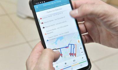 Más de 2.000 descargas de App que orienta sobre desvíos en zona del multiviaducto