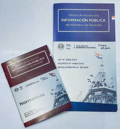 Hacienda difunde disposiciones en materia de Acceso a la Información Pública