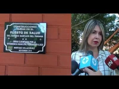 HABILITAN OBRAS EN CENTRO DE SALUD DE SAN JUAN DEL PARANÁ