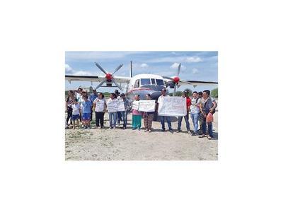 Bahía Negra: Se manifiestan por mantener servicio aéreo