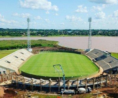 El estadio de la Liga Encarnacena crece a pasos agigantados