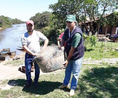 Incautan elementos de pesca prohibidos en Misiones y Ñeembucú