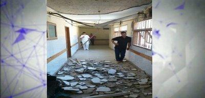 Cayó parte del techo del Hospital de Coronel Oviedo