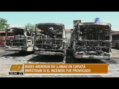 Buses de la línea 29 ardieron en llamas