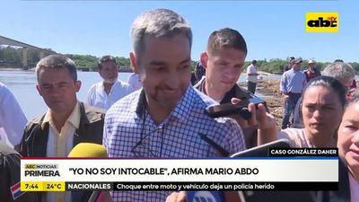 """""""Yo no soy intocable"""" afirma Mario Abdo"""