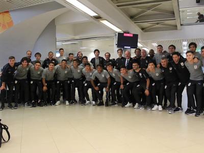 La selección sub-15 de Uruguay llega a Paraguay para el Sudamericano
