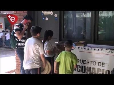 REFORZARON CAMPAÑA DE VACUNACIÓN EN EL CREE
