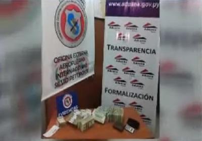 Detienen a paraguayo que intentó viajar con USD 370.000 sin declarar