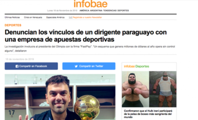 HOY / Prensa argentina se hace eco de la investigación contra Trovato